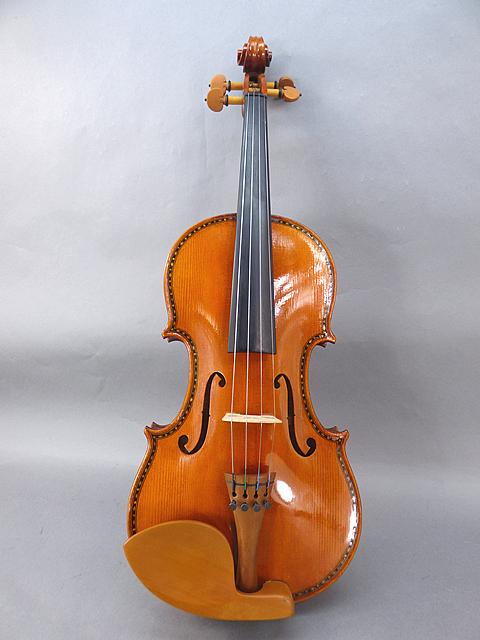 Violinインレイ虎杢一枚裏板 Luthier Strad