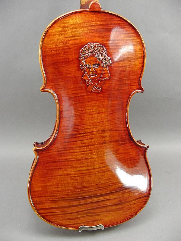 ベートーベン彫刻バイオリン #4Beethoven Engraved Violin