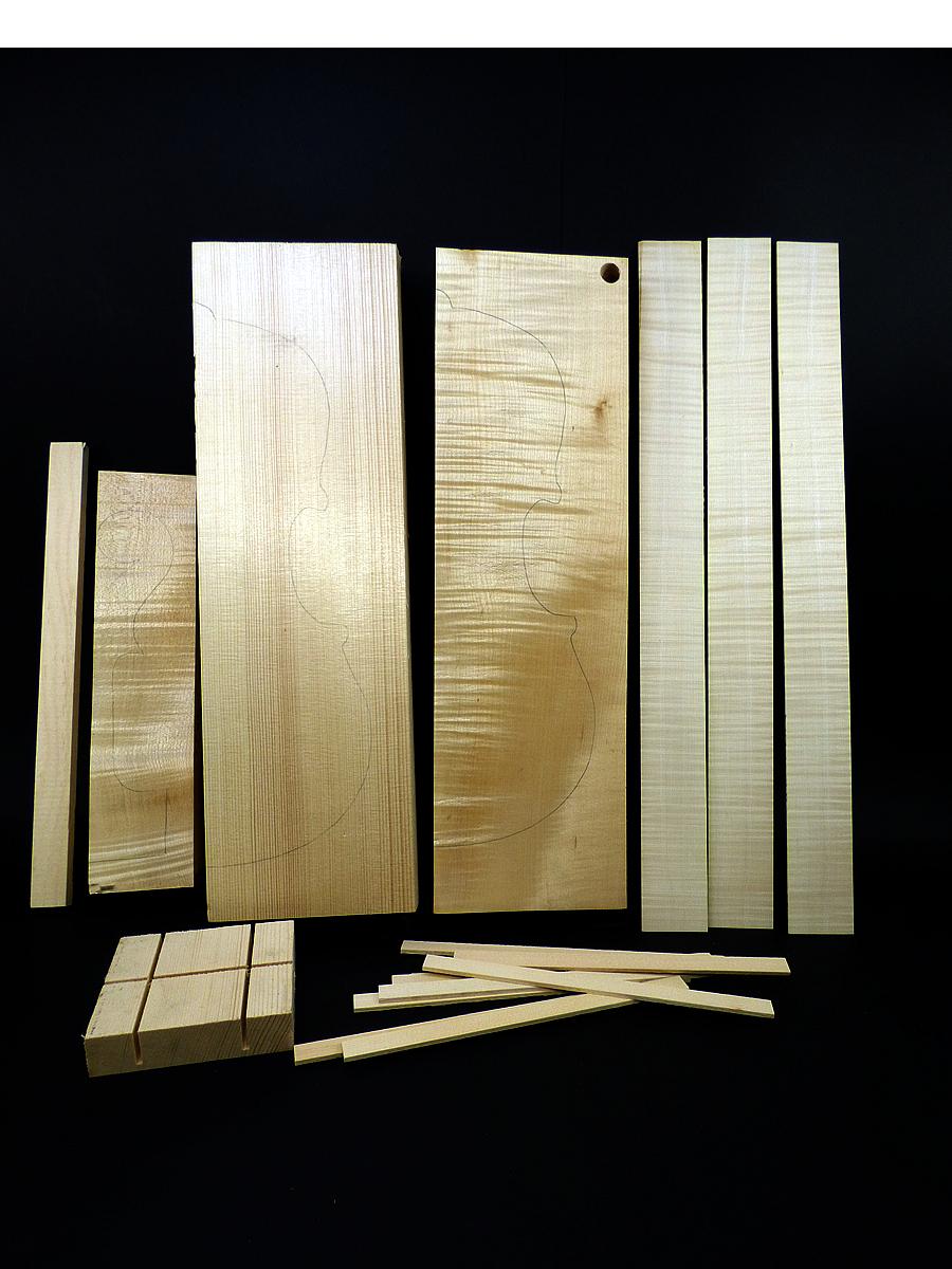 Complete wood set for viola