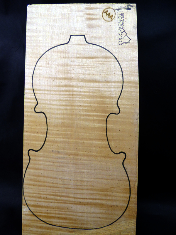 Tonewood violin Maple set AAA #15