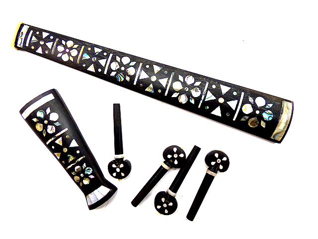 Inlaid Violin Ebony Fitting Set