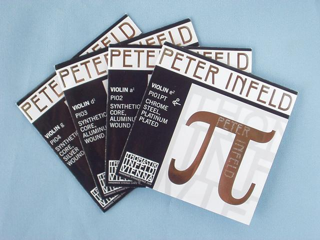 E線プラチナ/D線アルミ PETER タイプ3 バイオリン弦 set INFELD