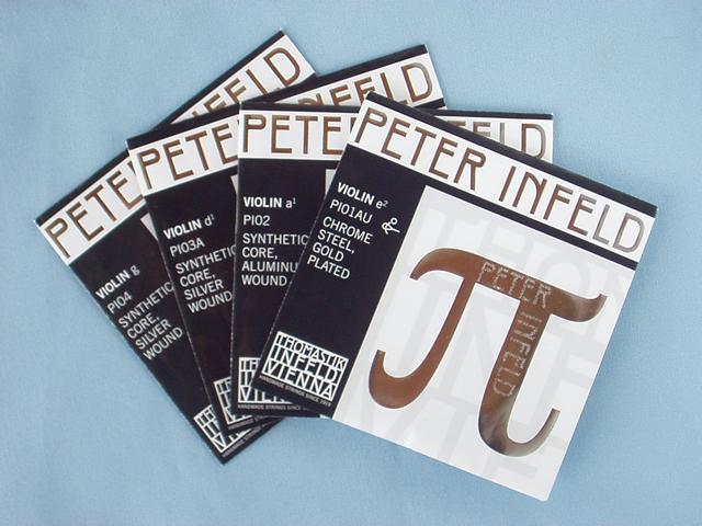 バイオリン弦 PETER INFELD set タイプ4 E線ゴールド/D線シルバー