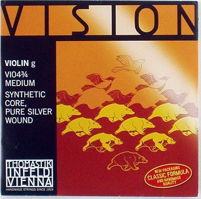 バイオリン弦 VISION-G線 3 海外 4 休み