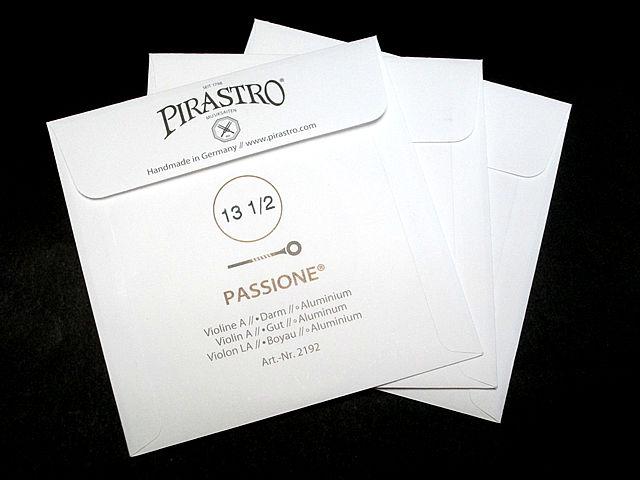 バイオリン弦 PIRASTRO PASSIONE ADG 3本set パッシオーネ(パッショーネ)3本セット