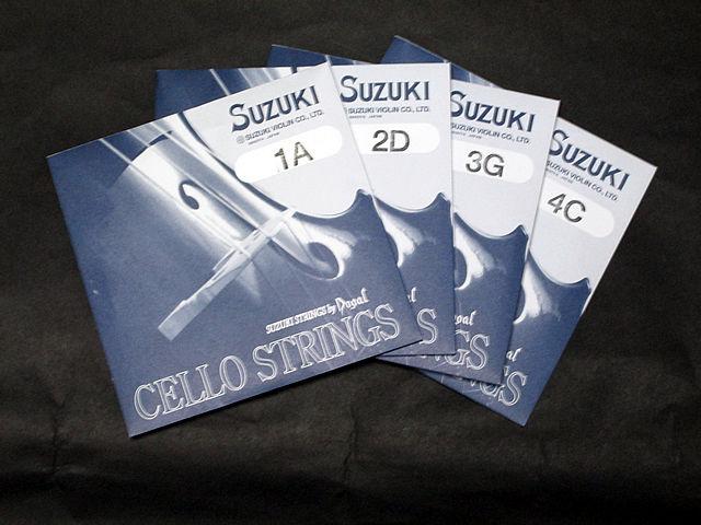チェロ弦 SUZUKI CELLO STRINGS set