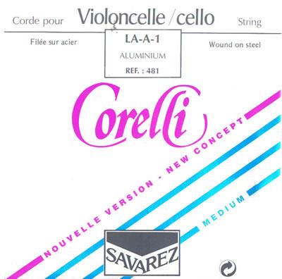 チェロ弦 サバレス コレルリ セット SAVAREZ Corelli Cello 480M set