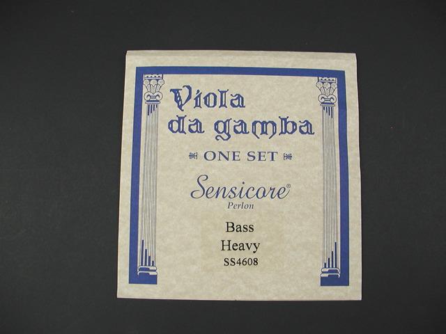 Viola da Gamba Bass弦セット Super-Sensitive Sensicore Perlon Heavy