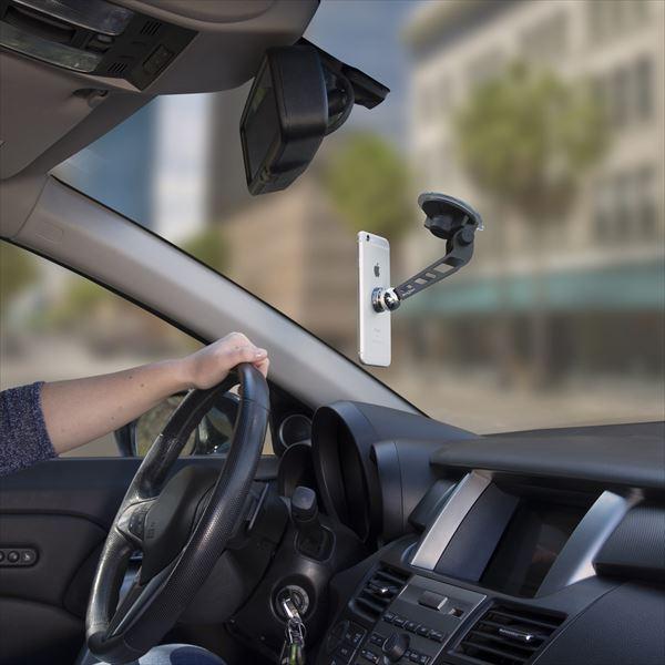 フロントガラスにピタッと簡単取り付けできるスマホホルダー NITEIZE 毎日続々入荷 正規店 ナイトアイズ スティーリー フロントグラスマウントキット 日本正規品 スマホホルダー マグネット 車載