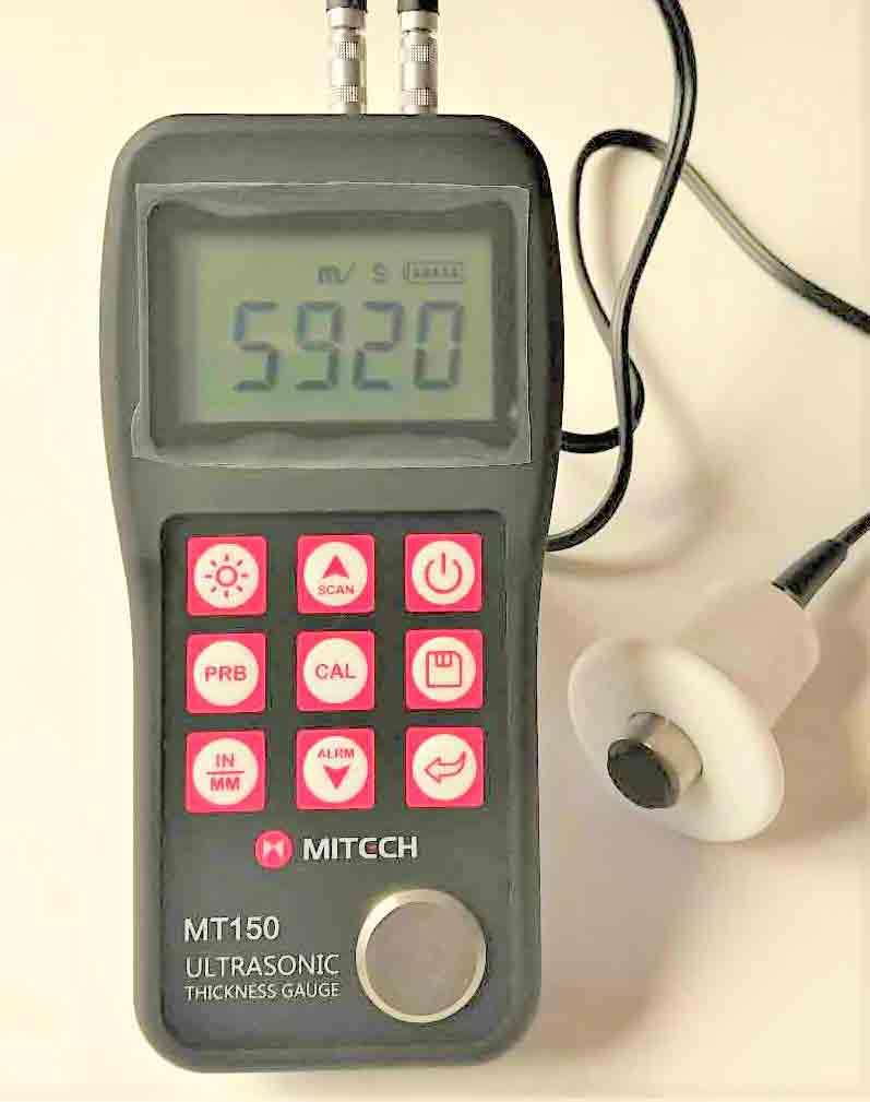 超音波厚さ計MT150高温プローブセット