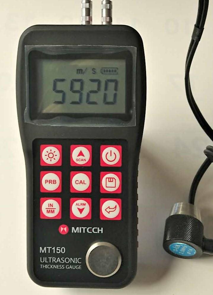 好評受付中 高精度超音波厚さ計金属 プラスチック 定番キャンバス ガラス等の厚さを片面から0.1mmで測定測定 -鋳物用2MHzプローブで鋳物の測定 送料無料 鋳物用2MHzプローブセット 超音波厚さ計MT-150
