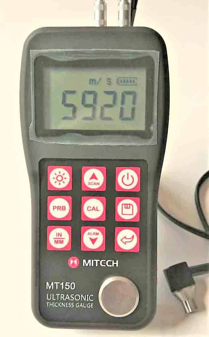 【送料無料】超音波厚さ計MT-150+7MHzプローブ