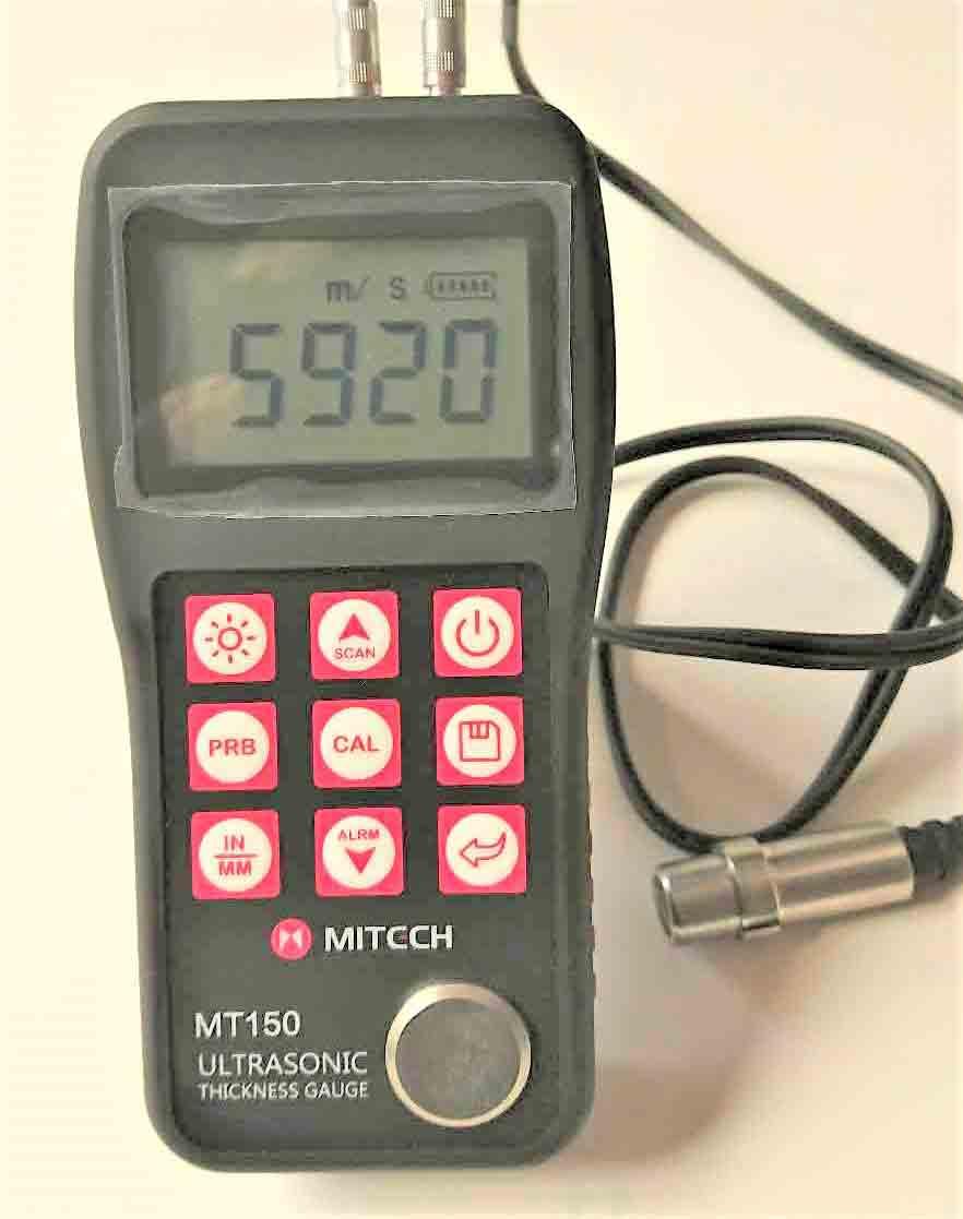 【送料無料】超音波厚さ計MT-150、5MHzストレートプローブセット