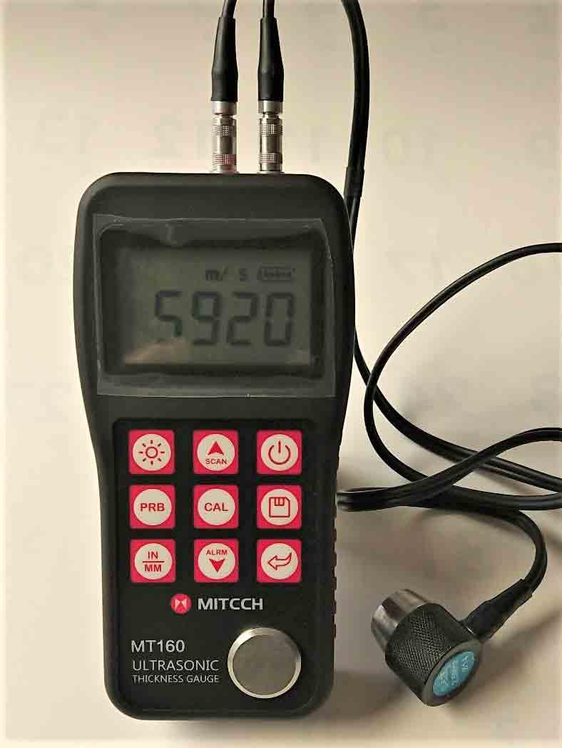 【送料無料】超音波厚さ計MT-160-鋳物用2MHzプローブをプラス