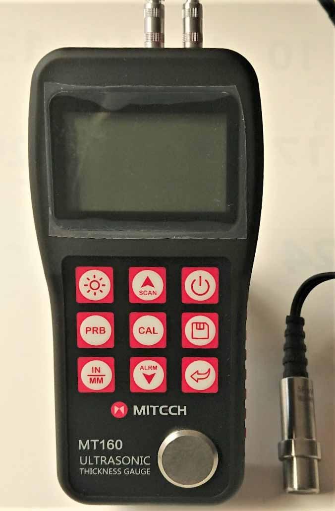【送料無料】超音波厚さ計MT-160、5MHzストレートプローブセット