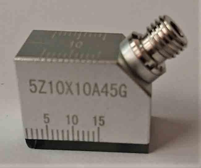 値下げ 標準サイズの斜角探触子鉄骨溶接部超音波検査に最適 激安価格と即納で通信販売 コネクターはG 超音波斜角探触子5Z10X10A45-G