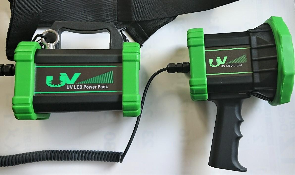 NOVA-4S-BL ポータブルトーチタイプ高強度LED UVランプ AC電源/バッテリー電源両用タイプ