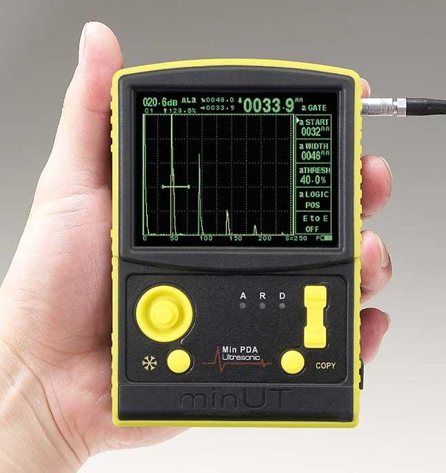 JIS-DACカーブが付きました!ポケット超音波探傷器Min PDA PLUS