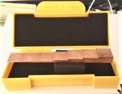 銅製厚さ測定用7段試験片