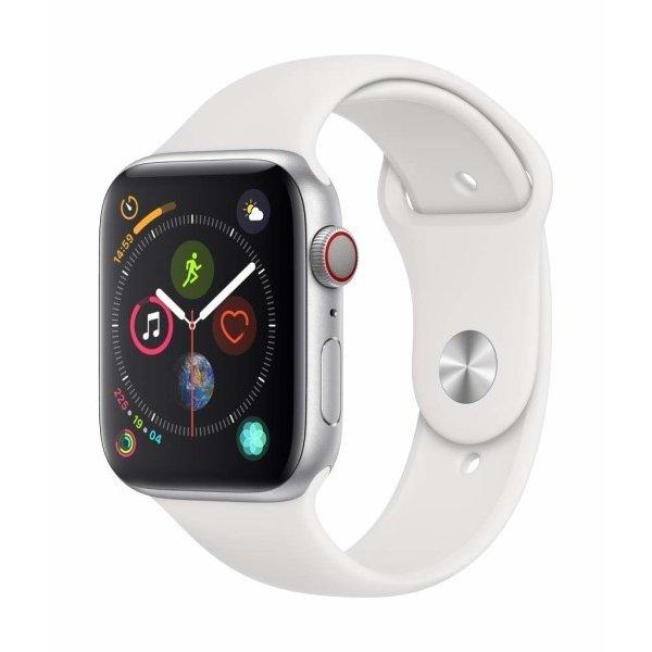 【送料無料 代引可 平日15時・土曜14時まで当日発送】Apple Watch Series 4 GPS + Cellularモデル ホワイトスポーツバンドMTVR2J/A