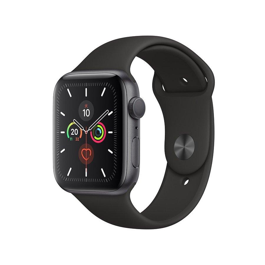 Apple Watch Series 5 GPSモデル 44mm スペースグレイ スマートウォッチ 腕時計 健康 メンズ レディース iPhone アルミケースブラックスポーツバンド MWVF2J/A (あす楽) [ラッピング対応可]