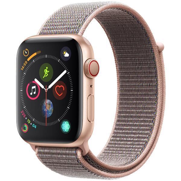 【送料無料 代引可 平日15時・土曜14時まで当日発送】Apple Watch Series 4(GPS + Cellularモデル)44mmゴールドアルミニウムケースとピンクサンドスポーツループ