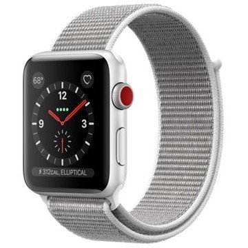 【送料無料 代引可 平日15時・土曜14時まで当日発送】 Apple Watch Series 3 GPS+Cellularモデル 42mmシルバーアルミニウムケースとシーシェルスポーツループ