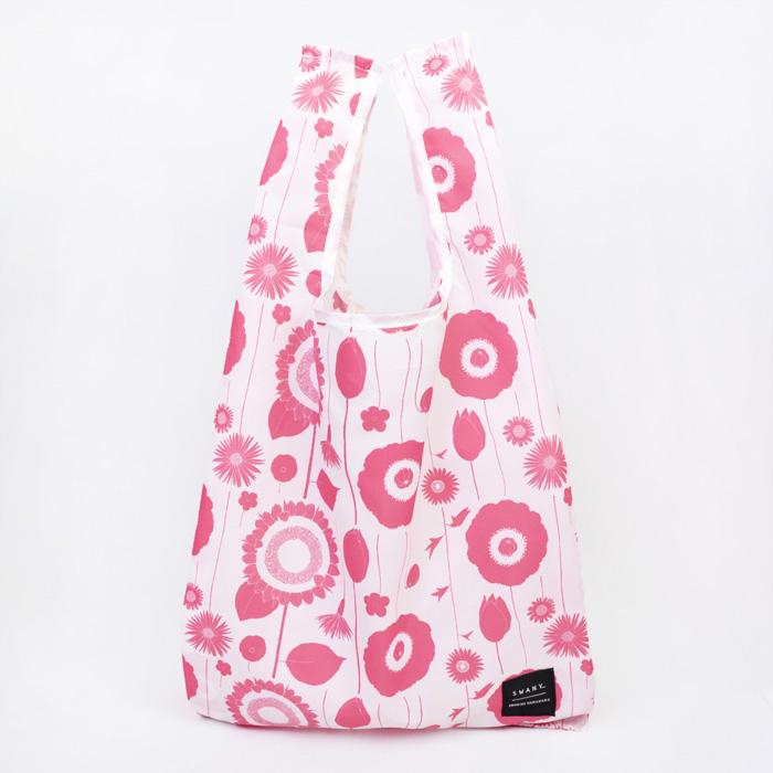 セール開催中最短即日発送 《中原淳一×SWANY》エコバッグ フラワー 開店祝い ピンク