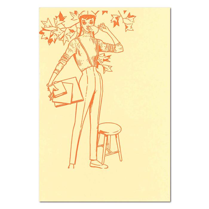 セール開催中最短即日発送 《中原淳一×Kumpel》ポストカード トレンド タテ オレンジ