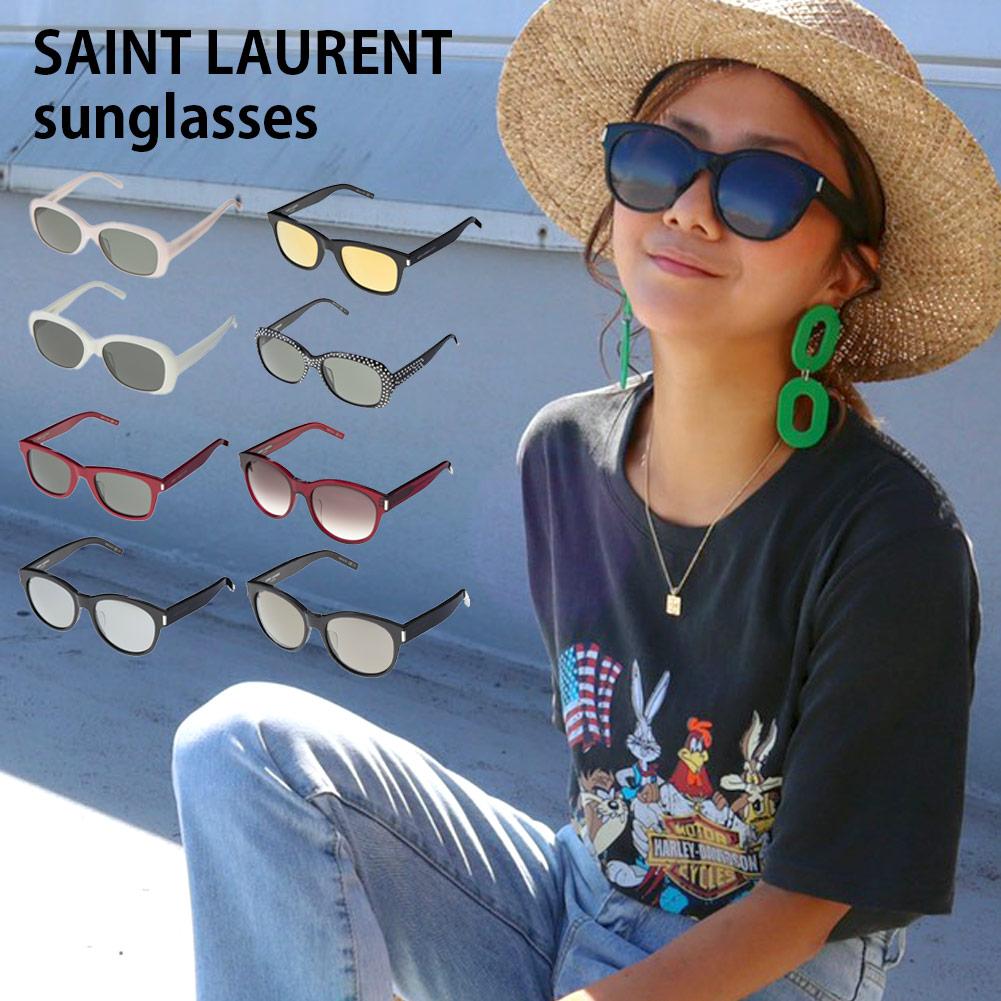 SAINT LAURENT 日本最大級の品揃え サングラス あす楽 送料無料 サンローラン 全8色 メンズ YSL レディース レッド ラッピング可能 卸直営 ブラック グレー 有料