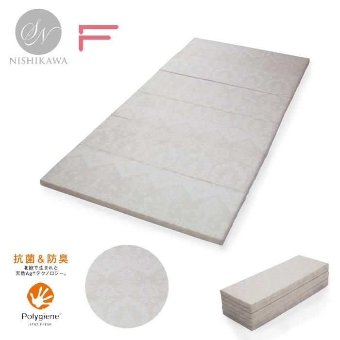 [昭和西川]6折りマットレス/GQ5002マットレスコンパクト取扱い楽ポリジンダブルロング140×210cm西川