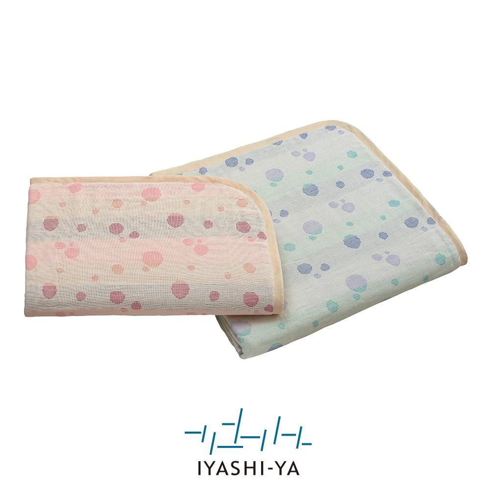 IYASHI-YA 6重織ガーゼケット IY-2002 140×190cm ブルー 注目ブランド 年間定番 ピンク