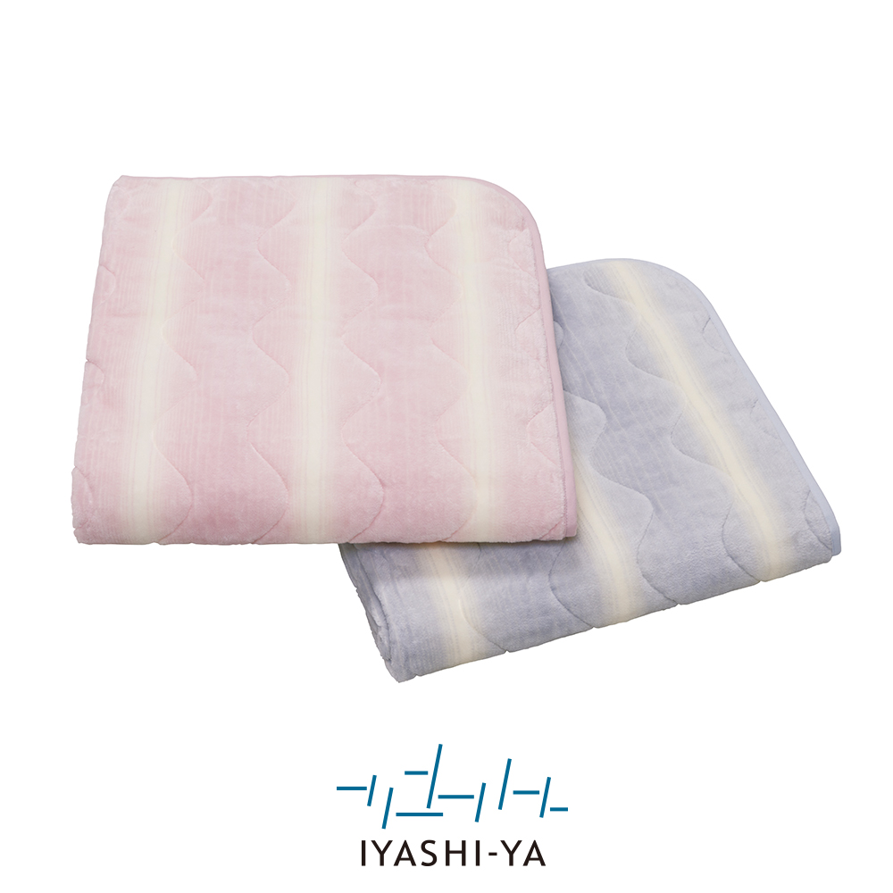 [IYASHI-YA] 洗えるシール織ウール混パッドシーツ/IY-1952 ダブル 140×205cm