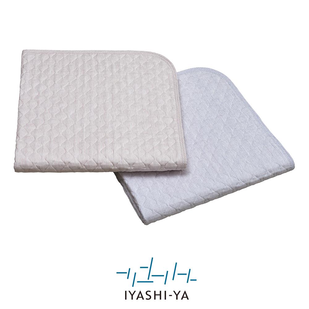 [IYASHI-YA] 洗える高島ちぢみパッドシーツ/IY-2007 140×205cm ピンク/ブルー