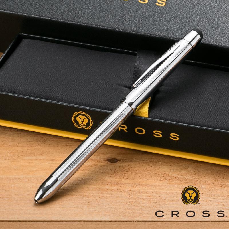 【名入れ無料】 クロス CROSS TECH3+ テックスリープラス 複合ペン クローム AT0090-1