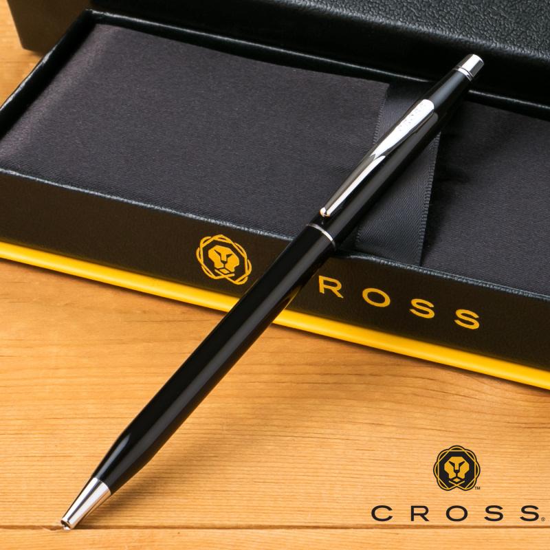 【名入れ無料】 クロス CROSS クラシックセンチュリー ボールペン ブラックラッカー AT0082-77