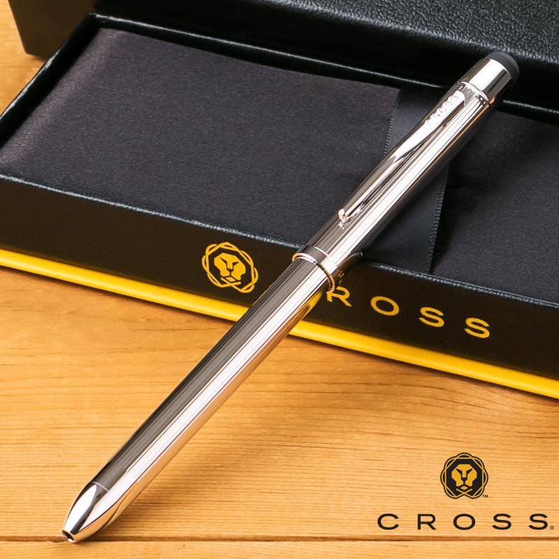 【名入れ無料】 クロス CROSS TECH3+ テックスリープラス プラチナプレート 複合ペン AT0090-11