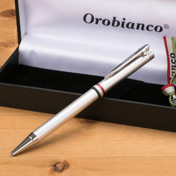 今すぐ使える!割引クーポン配布中!オロビアンコ Orobianco ラ・スクリヴェリア ボールペン シルバー CT 1953007