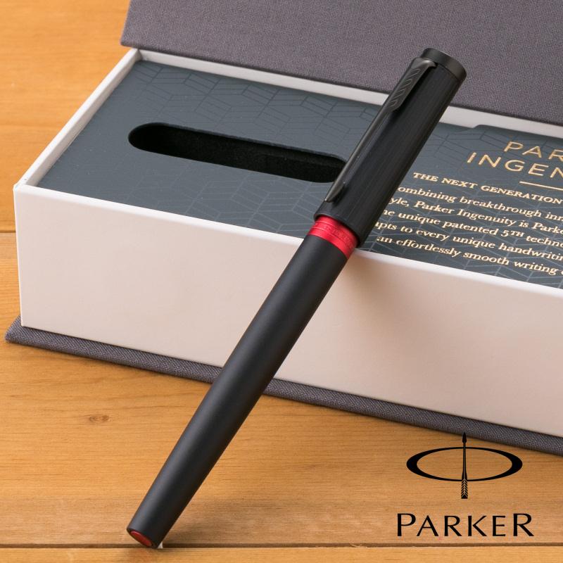 【名入れ無料】 パーカー PARKER インジュニュイティ ラグジュアリーライン スリム ディープブラックレッド BT 5th 1975834