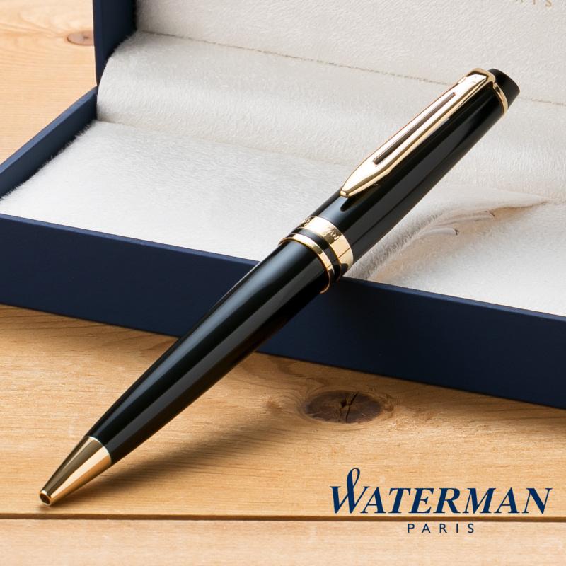 送料無料 ネーム入れ無料 ラッピング包装無料 お得 ウォーターマン WATERMAN ボールペン エッセンシャル ブラック デポー エキスパート GT