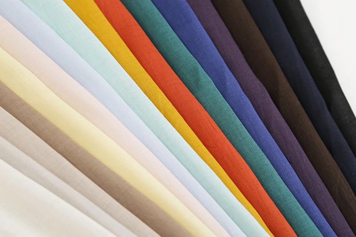 水木限定 クーポン利用で100円OFF カラー豊富で扱いやすい薄手生地 80sローン 期間限定 ペールカラー メーカー在庫限り品 手作り 生地 最小購入数1m以上~50cm単位 22383振替 布