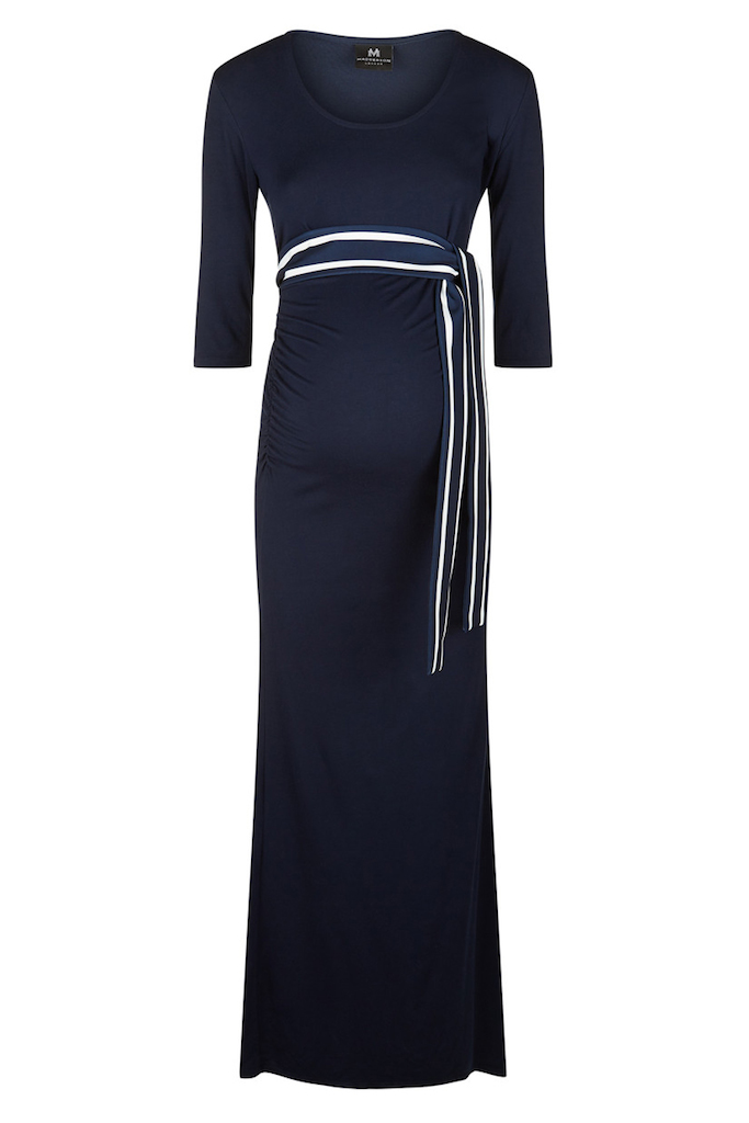 dccfe06fbe07b solregaro: Madderson London SATURDAY maternity maxi dress - navy ...