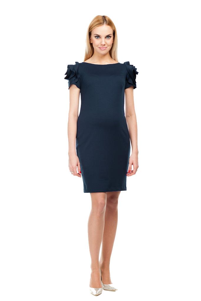 Pietro Brunelli DRESS SALISBURGO デザインスリーブワンピース -ダークネイビー