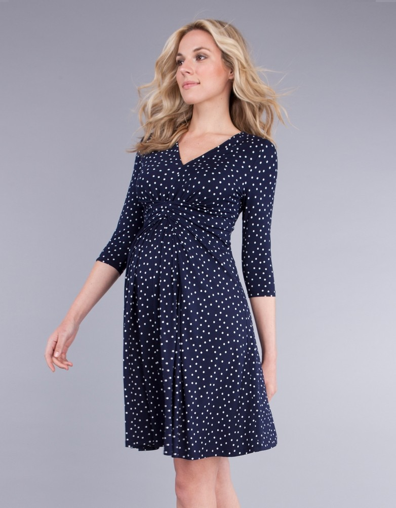 7c1b1556847 solregaro  Seraphine EVA empire maternity dress 3 4 sleeve - navy ...