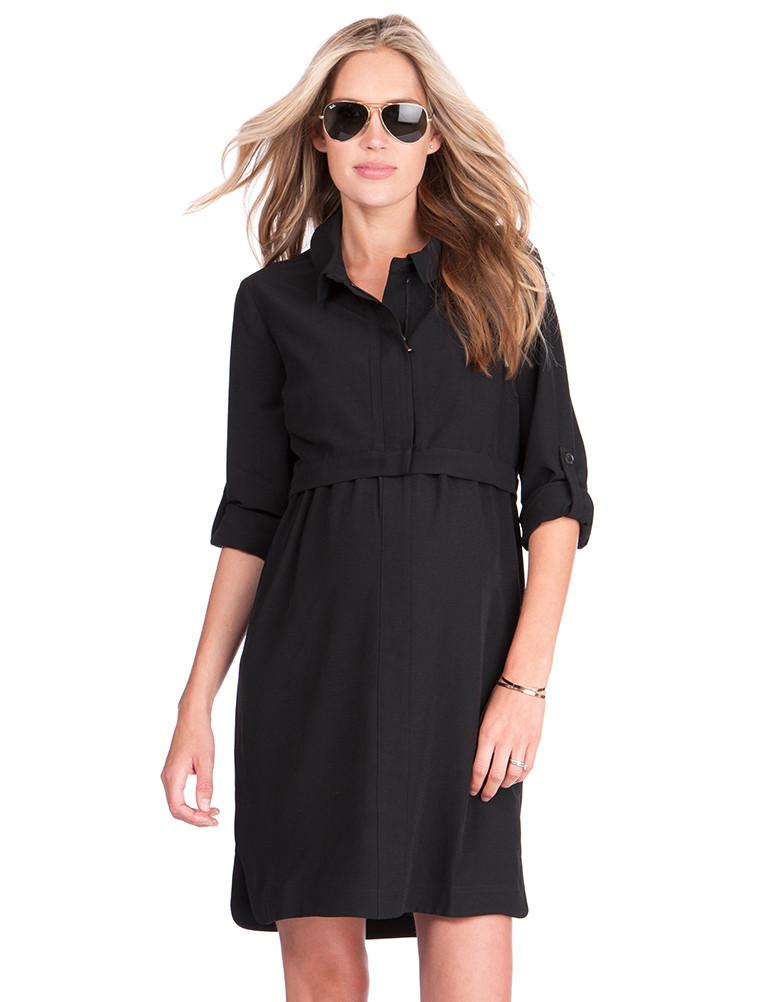 ee87e1a506184 solregaro: Seraphine GRACE zip up nursing maternity dress - black ...