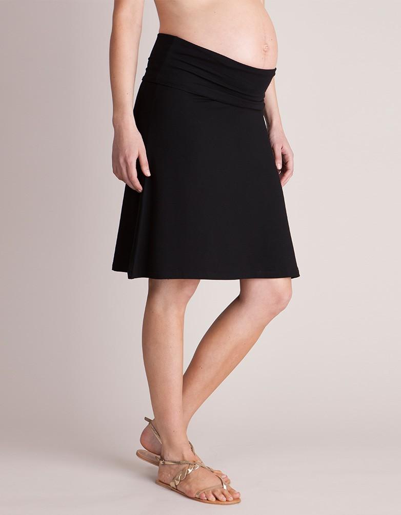 Seraphine LAURA ロールオーバーマタニティスカート -ブラック