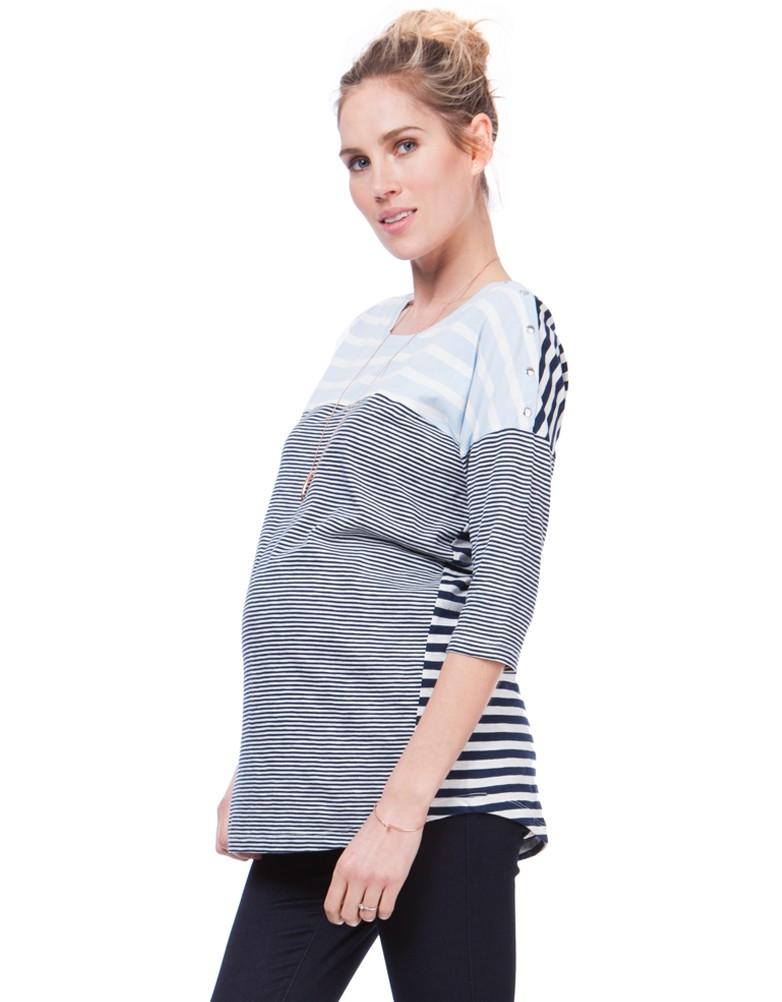 5e1bcf0ed solregaro  Seraphine CLEO maternity nursing top - multi-stripe ...