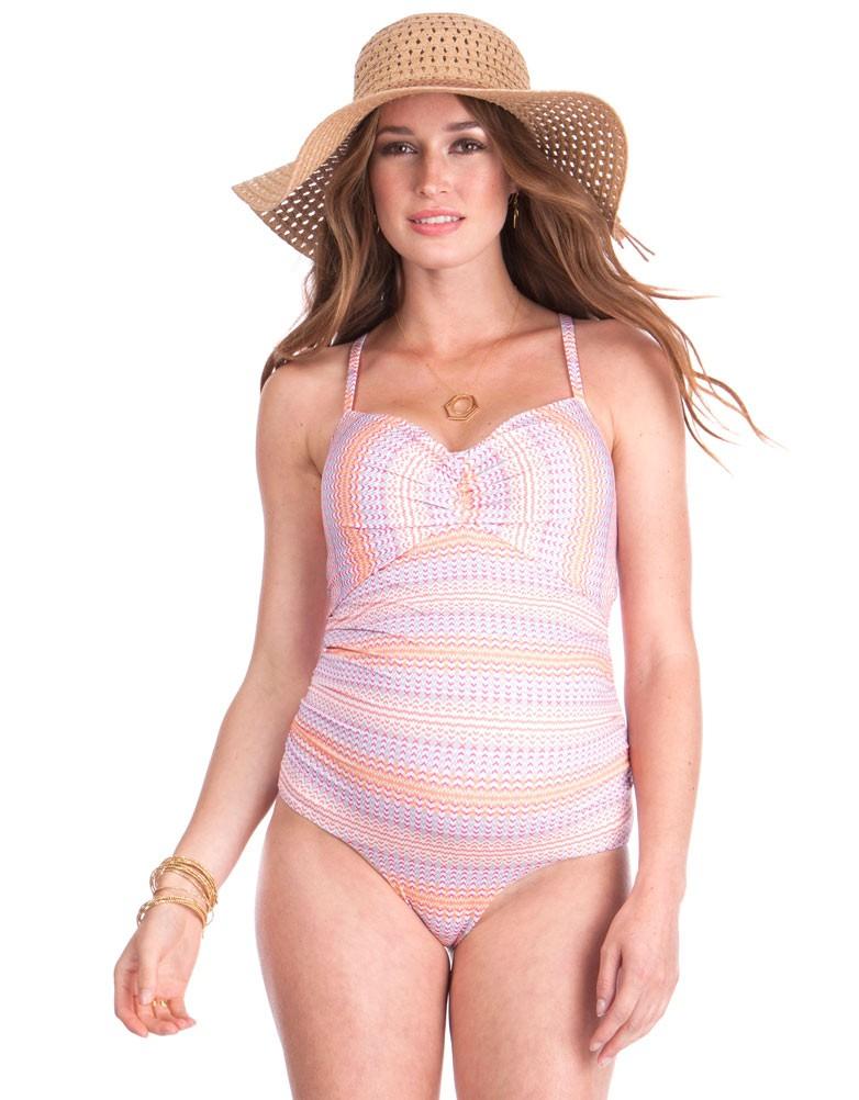 766721d5bb88a solregaro: Seraphine PALMA maternity swimsuit - peach print ...