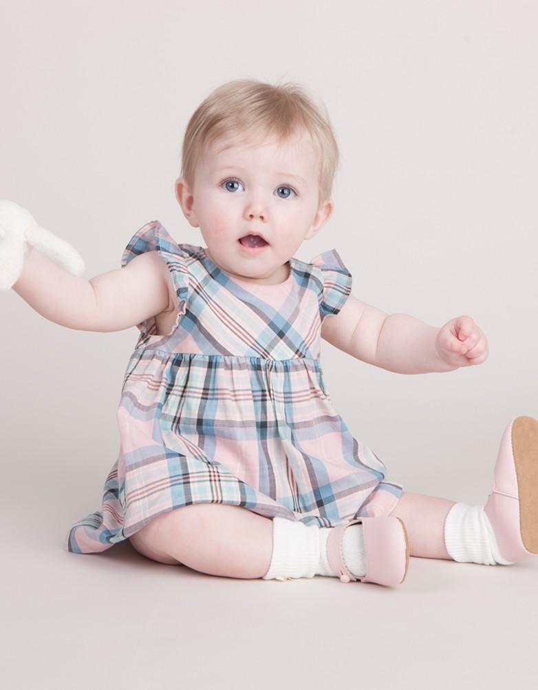 Seraphine BABY LEAH COTTON コットンバタフライベビードレス -ピンク