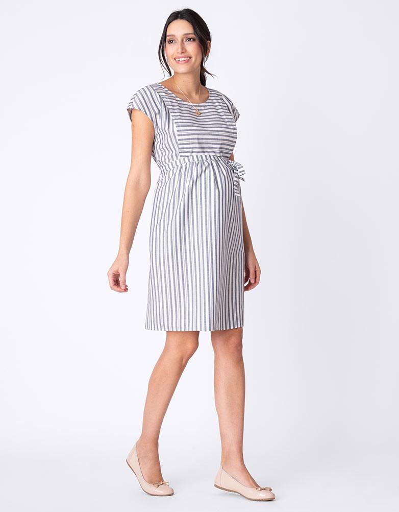 daf8a53cb1dc2 solregaro: Seraphine PRESLEY cotton nursing dress - stripe | Rakuten ...